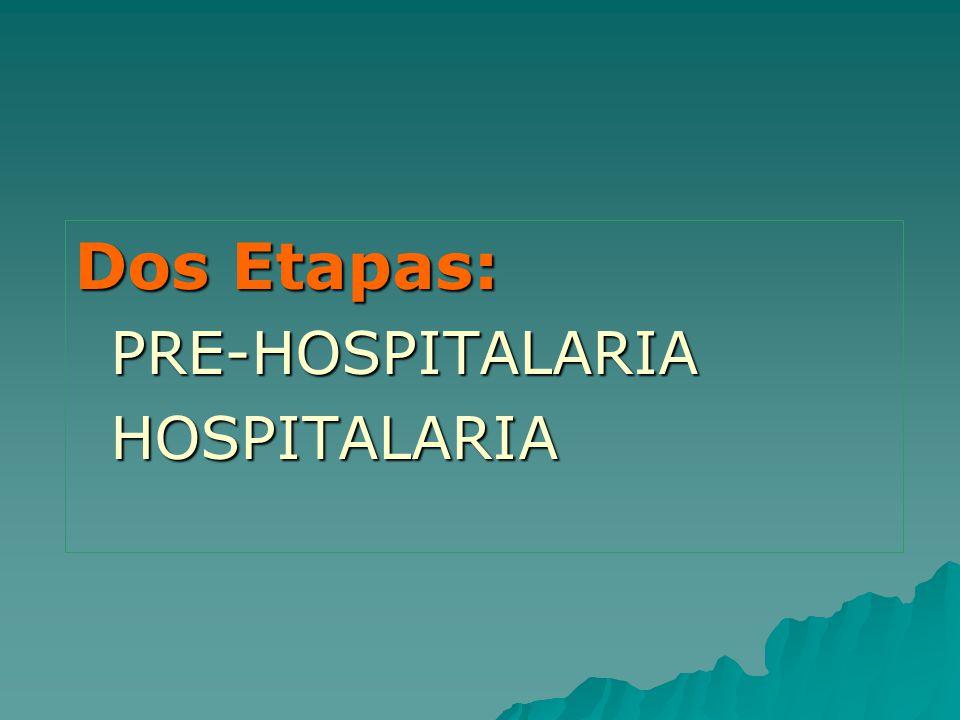 Dos Etapas: PRE-HOSPITALARIAHOSPITALARIA