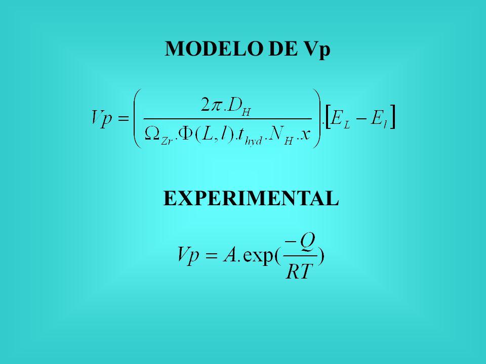 MODELO DE Vp EXPERIMENTAL