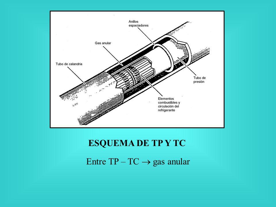 Entre TP – TC gas anular ESQUEMA DE TP Y TC