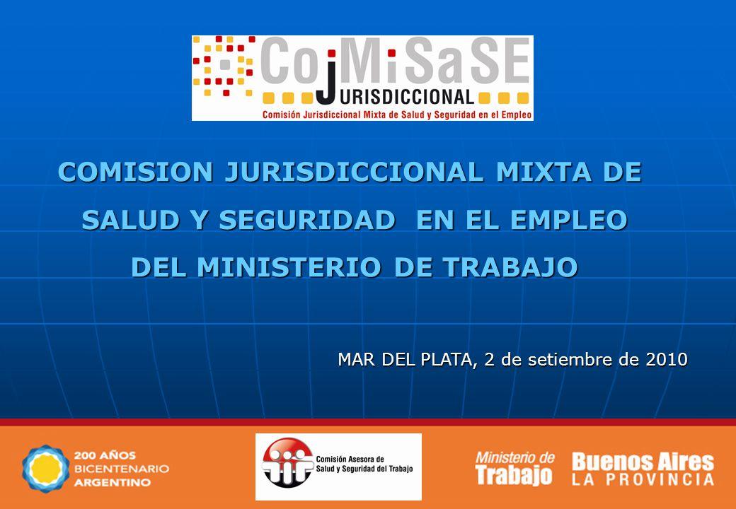 COMISION JURISDICCIONAL MIXTA DE SALUD Y SEGURIDAD EN EL EMPLEO SALUD Y SEGURIDAD EN EL EMPLEO DEL MINISTERIO DE TRABAJO DEL MINISTERIO DE TRABAJO MAR DEL PLATA, 2 de setiembre de 2010
