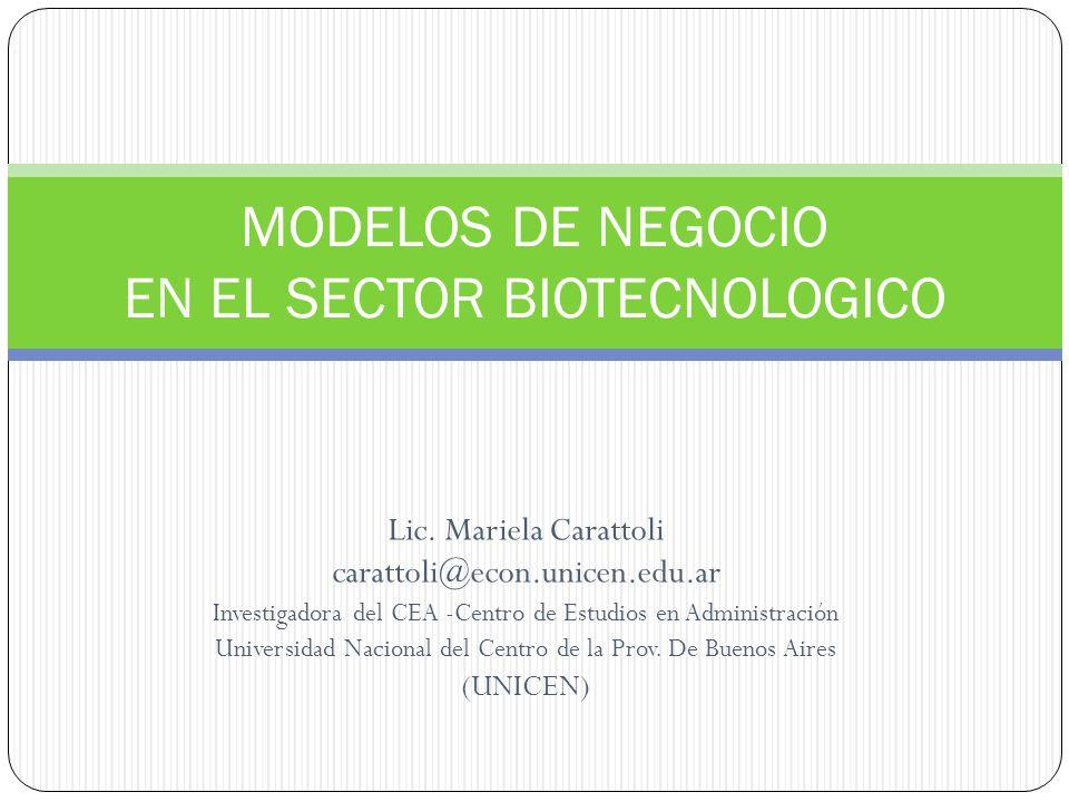 Lic. Mariela Carattoli carattoli@econ.unicen.edu.ar Investigadora del CEA -Centro de Estudios en Administración Universidad Nacional del Centro de la
