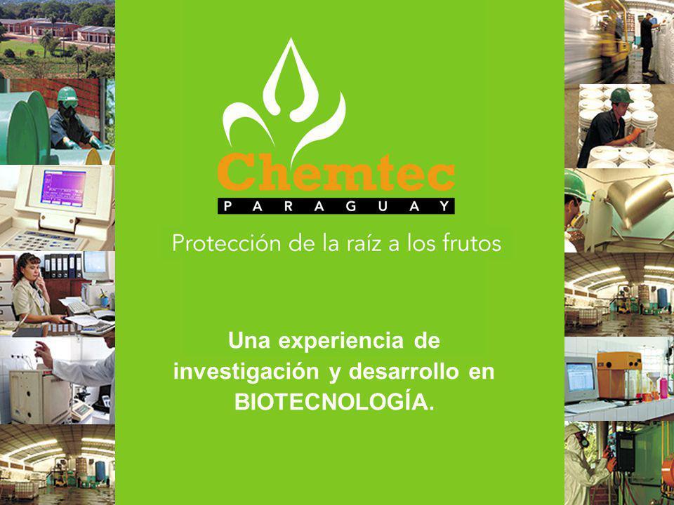 Una experiencia de investigación y desarrollo en BIOTECNOLOGÍA.