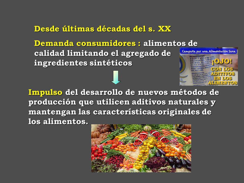 Impulso del desarrollo de nuevos métodos de producción que utilicen aditivos naturales y mantengan las características originales de los alimentos.