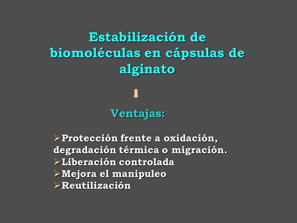 Ventajas: Protección frente a oxidación, degradación térmica o migración.