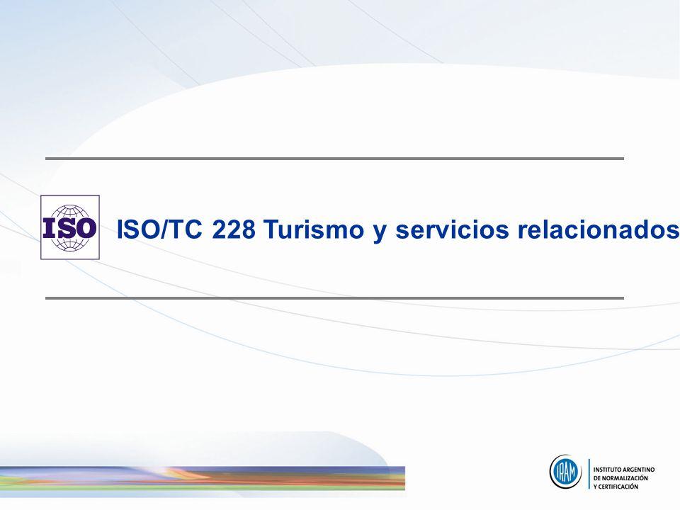 ISO/TC 228 Turismo y servicios relacionados