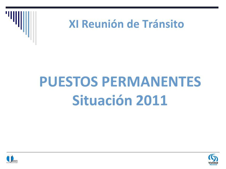 XI Reunión de Tránsito PUESTOS PERMANENTES Situación 2011