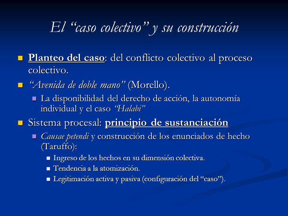 El caso colectivo y su construcción Planteo del caso: del conflicto colectivo al proceso colectivo. Planteo del caso: del conflicto colectivo al proce