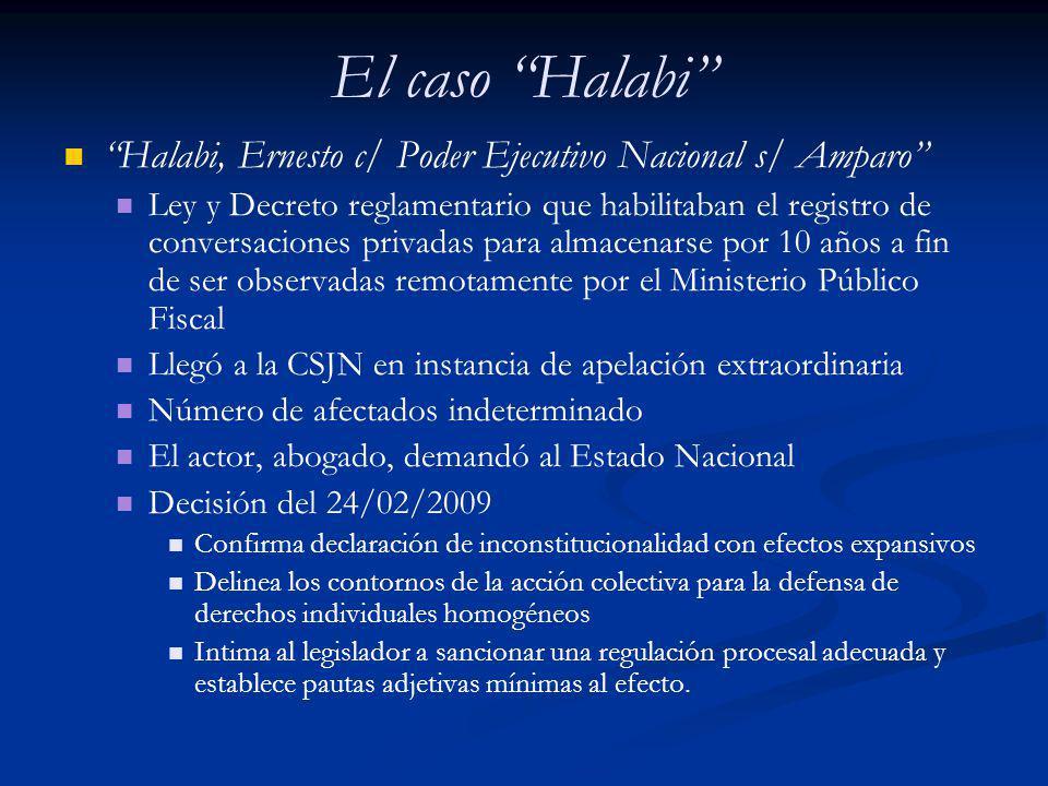 El caso Halabi Los requisitos de procedencia (admisibilidad) de la tutela colectiva de DIH en Halabi Derechos personales o patrimoniales (consid.