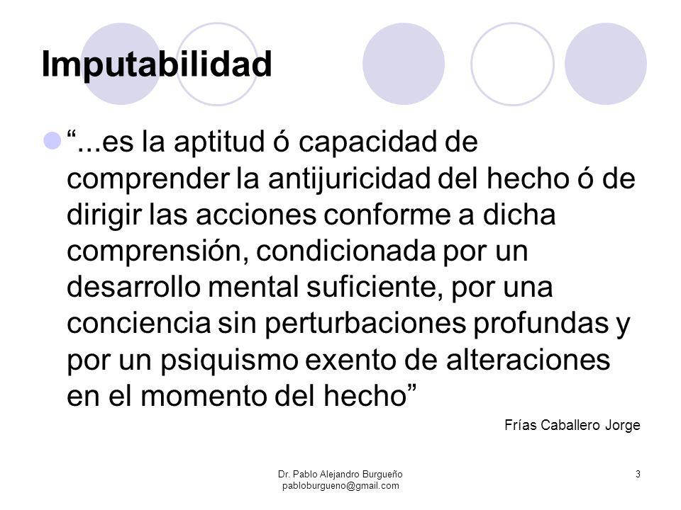 Imputabilidad...es la aptitud ó capacidad de comprender la antijuricidad del hecho ó de dirigir las acciones conforme a dicha comprensión, condicionad