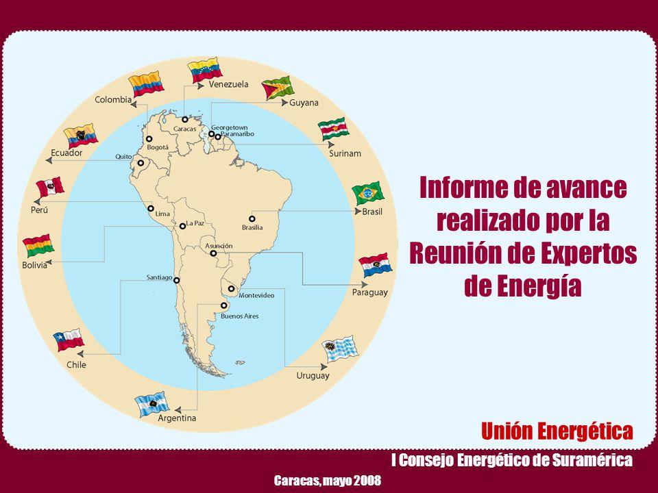 Reunión Preparatoria de Expertos – Caracas, Mayo 2008 1 Informe de avance realizado por la Reunión de Expertos de Energía Unión Energética I Consejo E