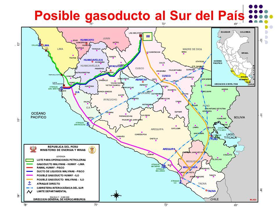Posible gasoducto al Sur del País