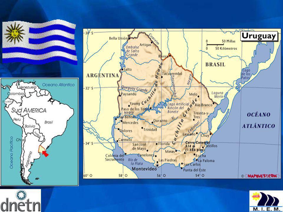 Estadísticas nacionales Superficie: 176.215 km 2 Indicadores socioeconómicos: Población: 3.3 millones habitantes Capital: Montevideo (1.2 millones habitantes) Tasa de crecimiento población: 3.2 0/00 ac.anual Población urbana: 91.8% Tasa de desempleo: 8.5% PBI 2006 : 19.357 millones de US$ PBI (tasa de crec.real): 7% (año 2006) PBI/per cápita: 5.972 US$