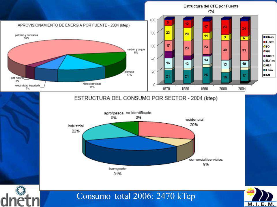 Consumo total 2006: 2470 kTep