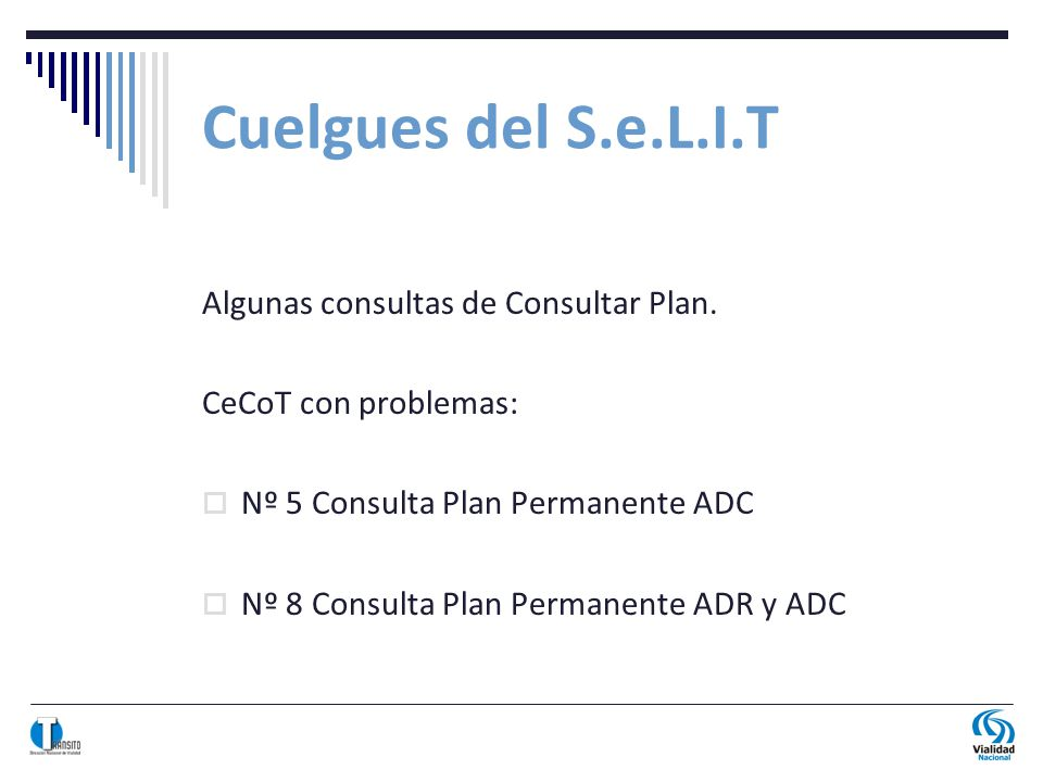 Cuelgues del S.e.L.I.T Algunas consultas de Consultar Plan.