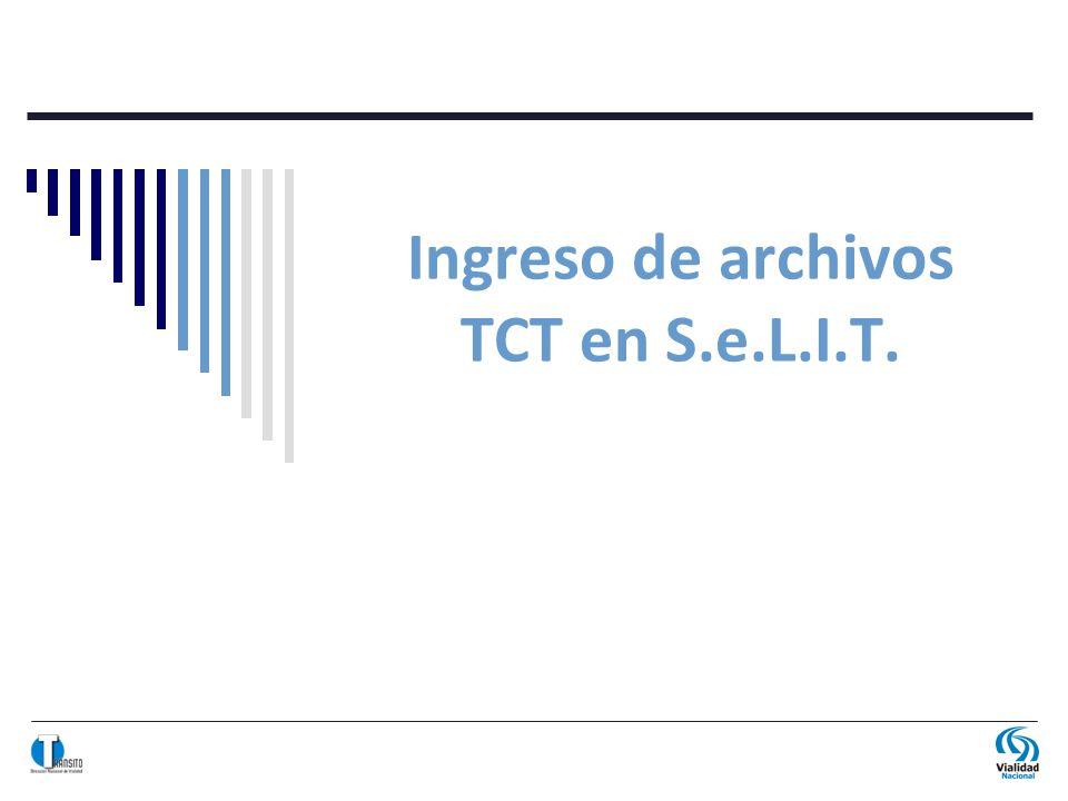 Ingreso de archivos TCT en S.e.L.I.T.
