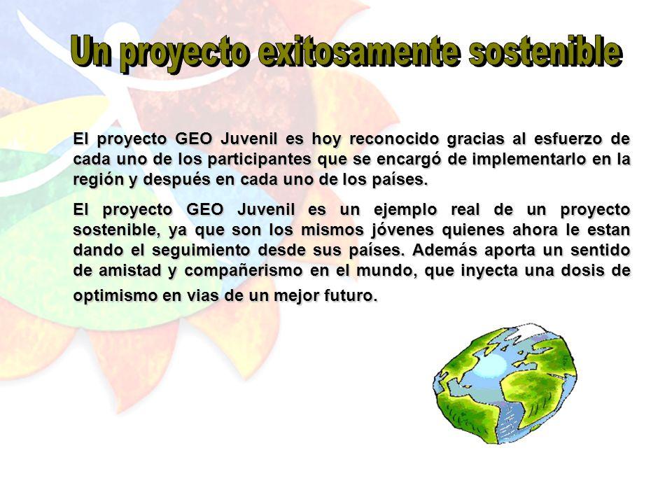 Después de haber comenzado con el gran reto de iniciar un proyecto que involucrara a los jóvenes en la búsqueda de una participación activa, concreta y sinérgica dentro de la temática ambiental, el GEO Juvenil para América Latina y el Caribe es hoy una exitosa realidad.