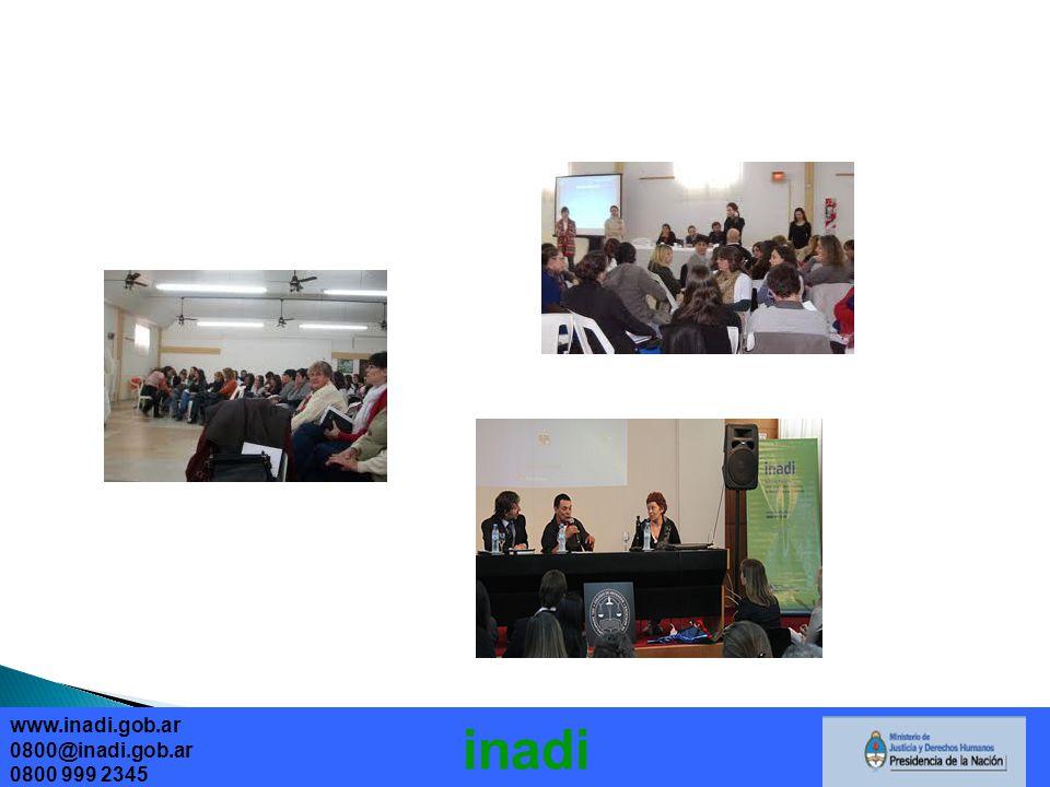 www.inadi.gob.ar 0800@inadi.gob.ar 0800 999 2345 inadi