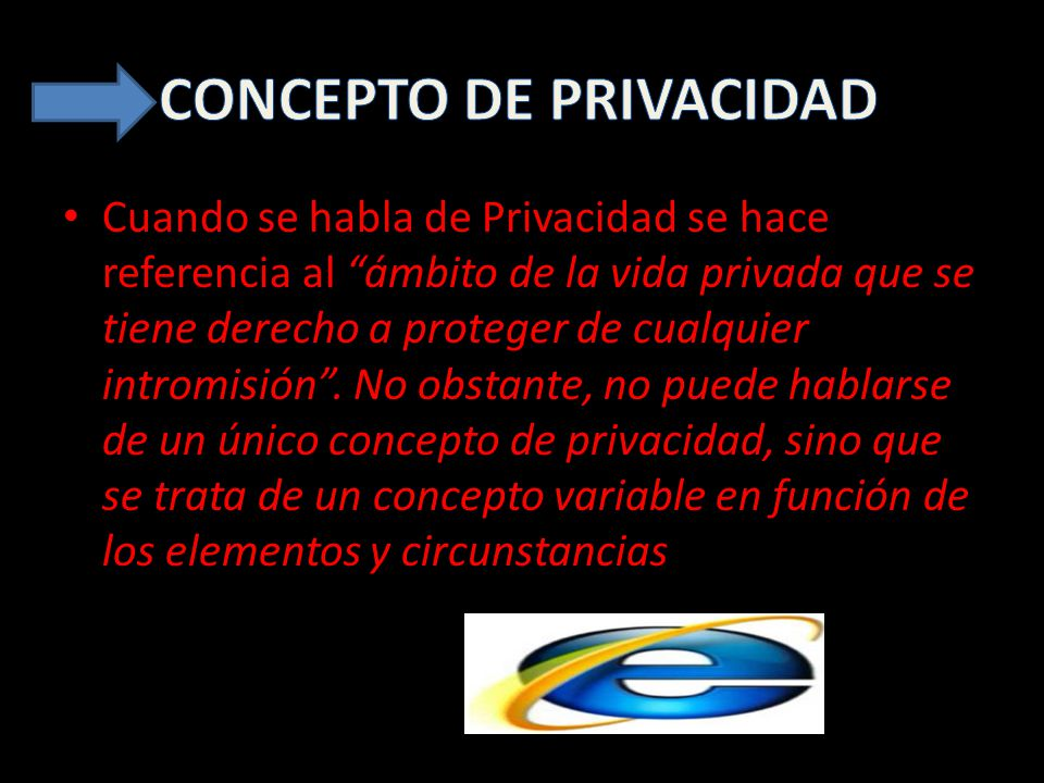 Cuando se habla de Privacidad se hace referencia al ámbito de la vida privada que se tiene derecho a proteger de cualquier intromisión.