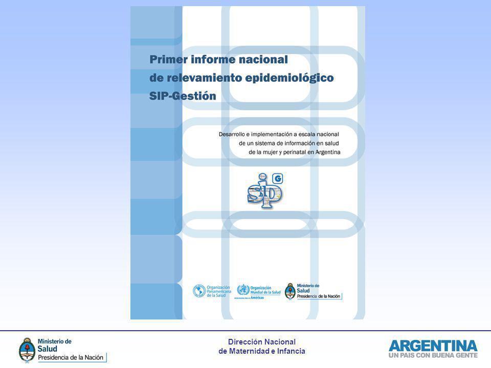 Dirección Nacional de Maternidad e Infancia Partos analizados SIP-G por Región 2010-2012