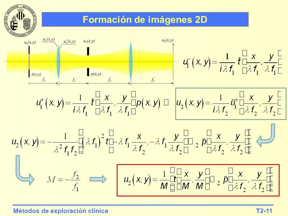 T2-11Métodos de exploración clínica Formación de imágenes 2D