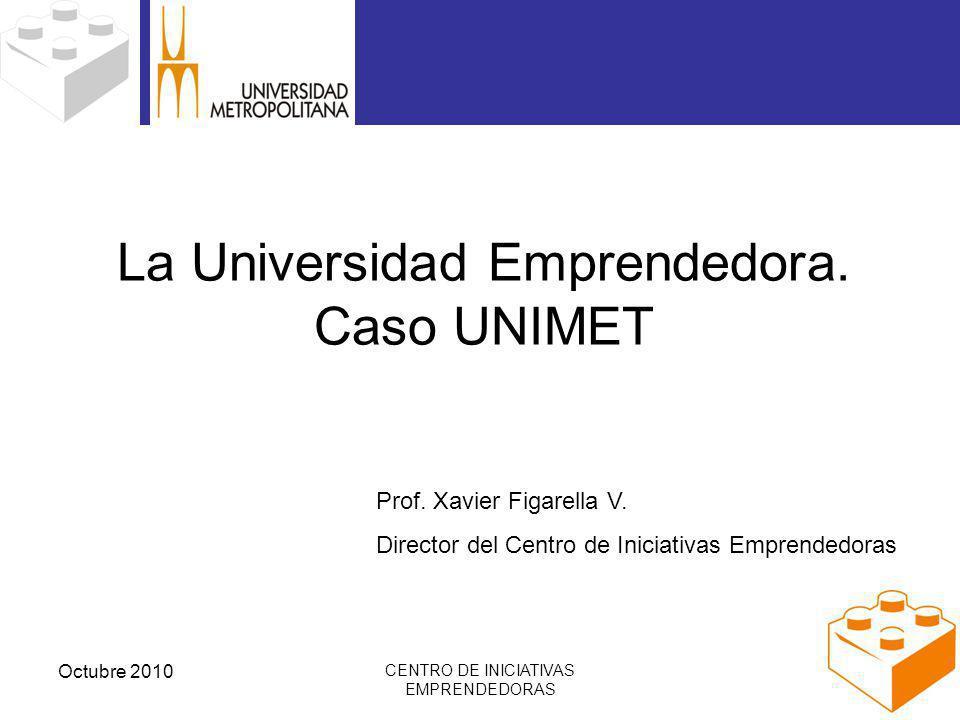 Octubre 2010 CENTRO DE INICIATIVAS EMPRENDEDORAS La Universidad Emprendedora.