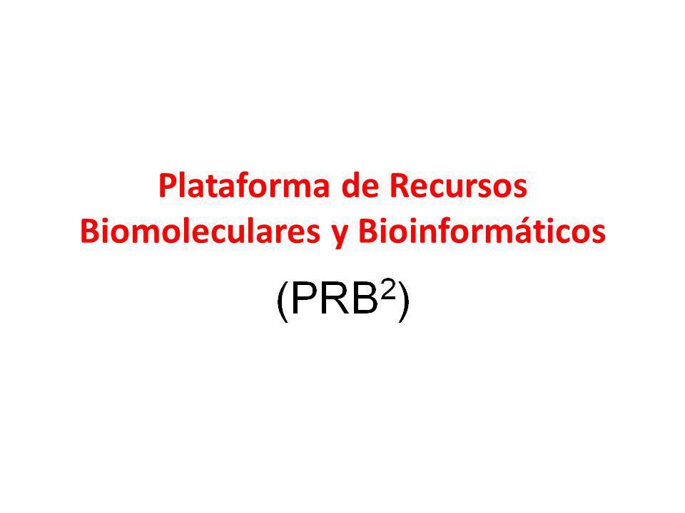 Plataforma de Recursos Biomoleculares y Bioinformáticos