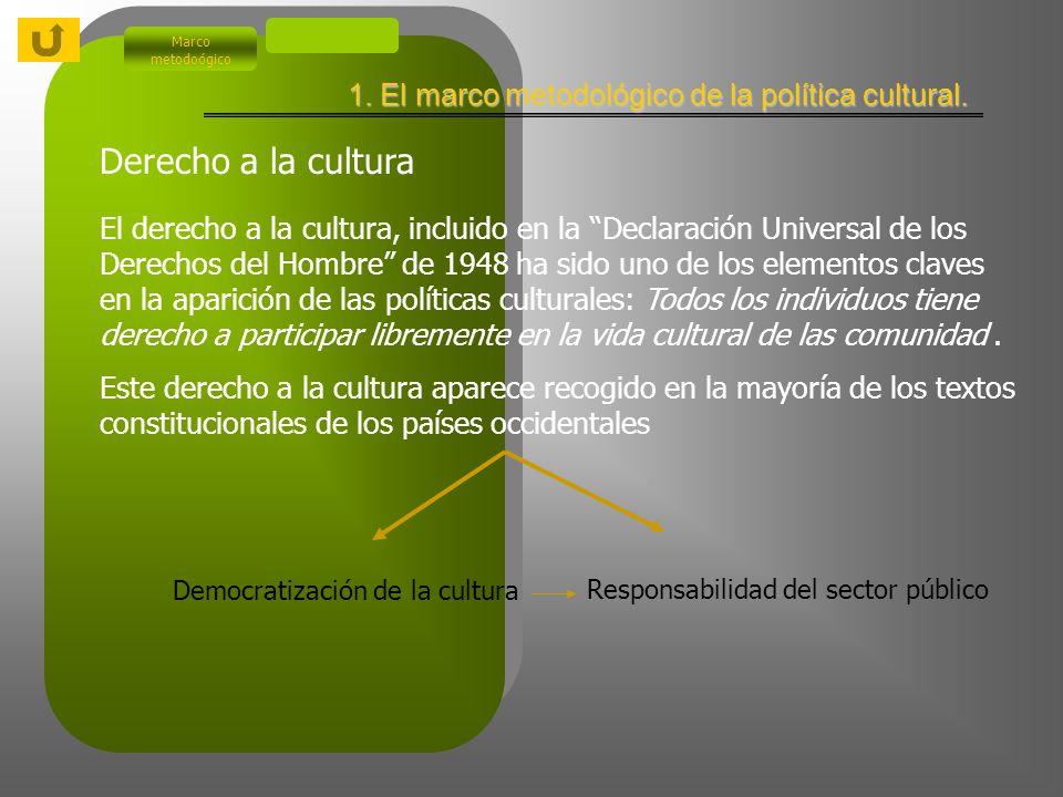 Marco metodoógico 1.1.b.Evolución de las políticas culturales.
