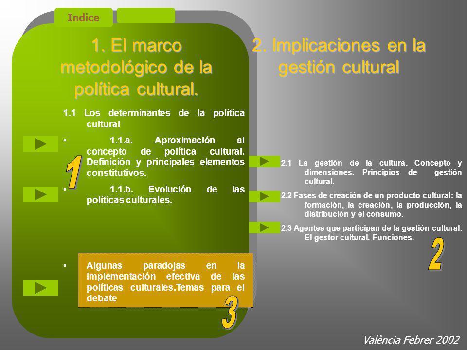 2.Modelos de intervención en los sectores culturales Gestión Cultural 2.3.