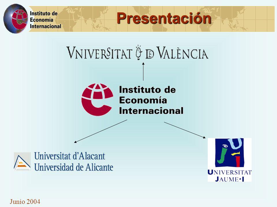 Junio 2004 Investigación en Turismo 1.Profesionalización y calidad turística 2.Política turística en relación al empleo, formación y educación 3.Desarrollo turístico sostenible e impactos de la actividad turística 4.I+D+I en el sector turístico 5.Participación en redes internacionales