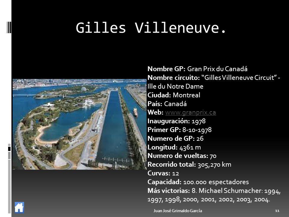 Juan José Grimaldo García 11 Juan José Grimaldo García 11 Gilles Villeneuve. Nombre GP: Gran Prix du Canadá Nombre circuito: Gilles Villeneuve Circuit