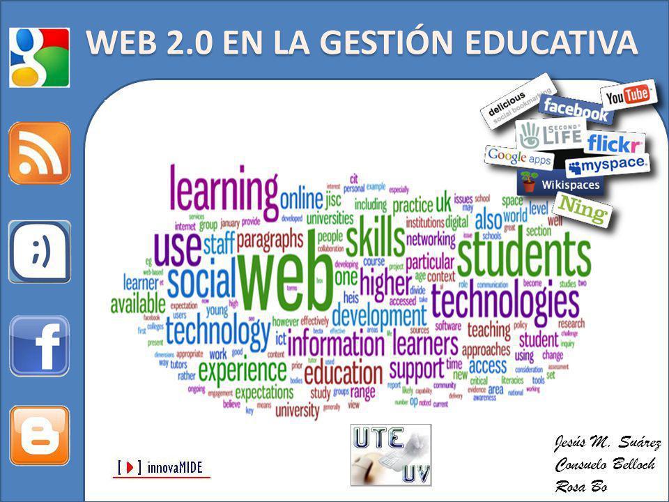 Jesús M. Suárez Consuelo Belloch Rosa Bo WEB 2.0 EN LA GESTIÓN EDUCATIVA