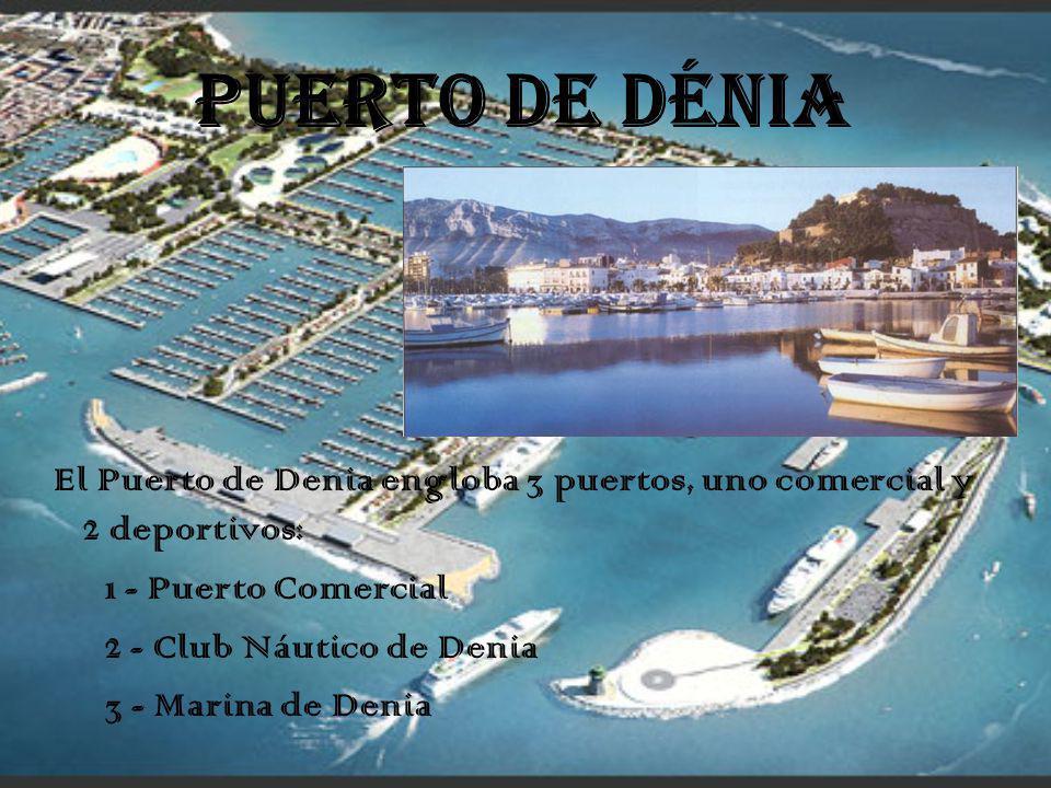PUERTO DE DÉNIA El Puerto de Denia engloba 3 puertos, uno comercial y 2 deportivos: 1 - Puerto Comercial 2 - Club Náutico de Denia 3 - Marina de Denia