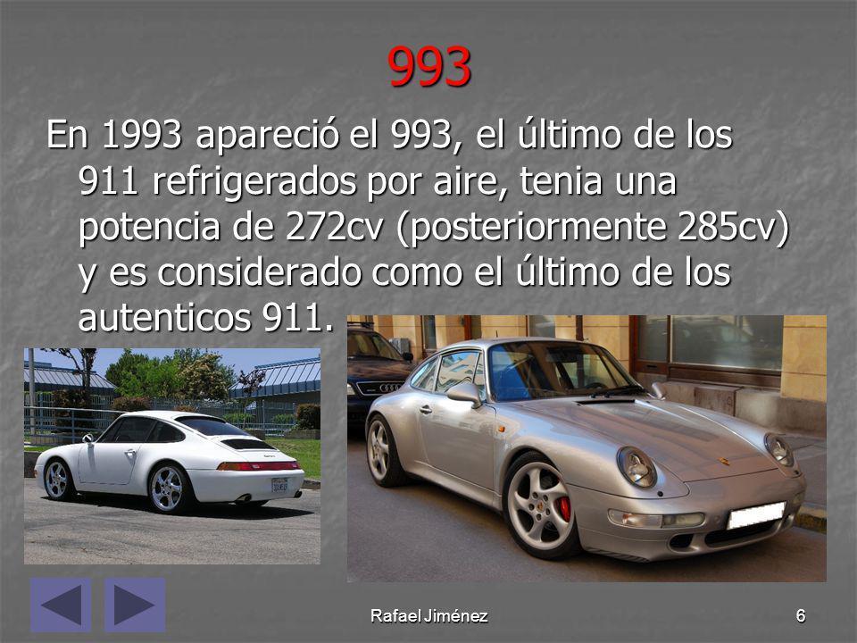 Rafael Jiménez7996 En el 98 se lanzó al mercado el 911 que debía salvar la marca de la quiebra, el 996.