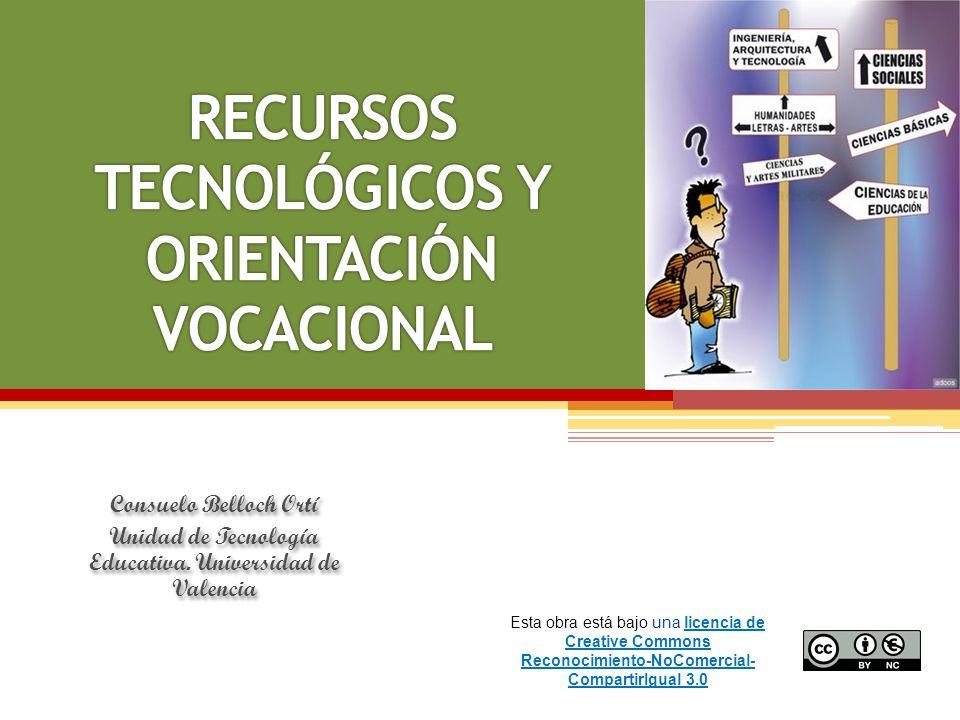 Consuelo Belloch Ortí Unidad de Tecnología Educativa. Universidad de Valencia Consuelo Belloch Ortí Unidad de Tecnología Educativa. Universidad de Val