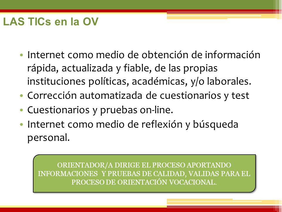 07/06/2014 Internet como medio de obtención de información rápida, actualizada y fiable, de las propias instituciones políticas, académicas, y/o labor