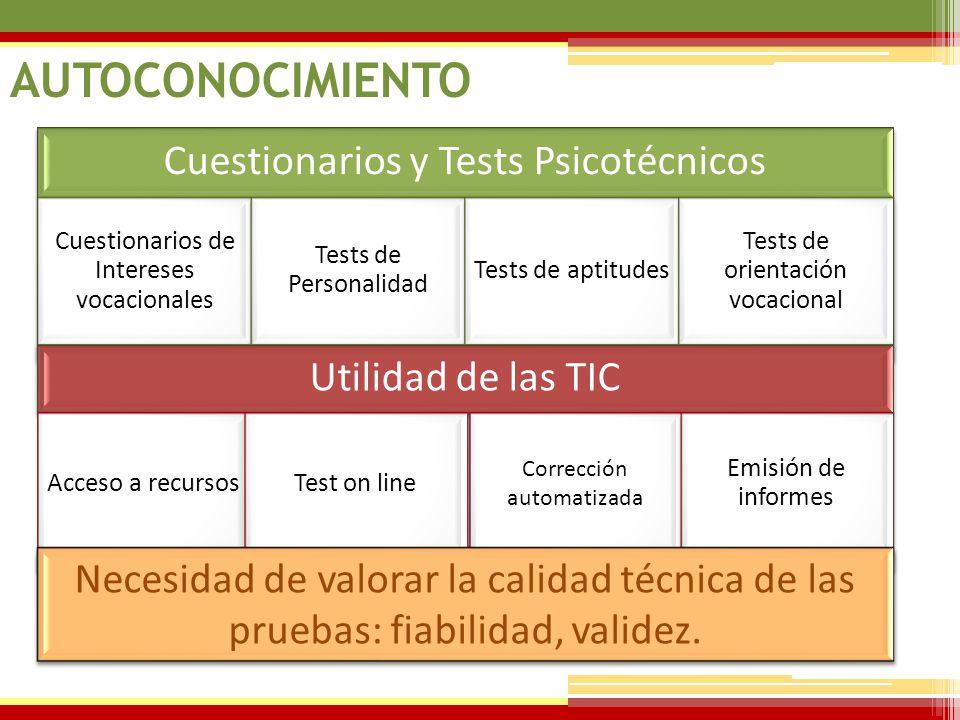 07/06/2014 Cuestionarios y Tests Psicotécnicos Cuestionarios de Intereses vocacionales Tests de Personalidad Tests de aptitudes Tests de orientación v