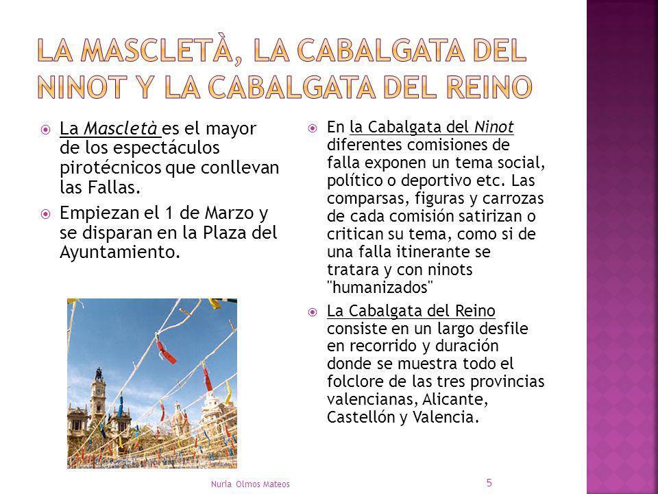 La Mascletà es el mayor de los espectáculos pirotécnicos que conllevan las Fallas. Empiezan el 1 de Marzo y se disparan en la Plaza del Ayuntamiento.