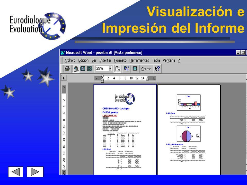 Visualización e Impresión del Informe