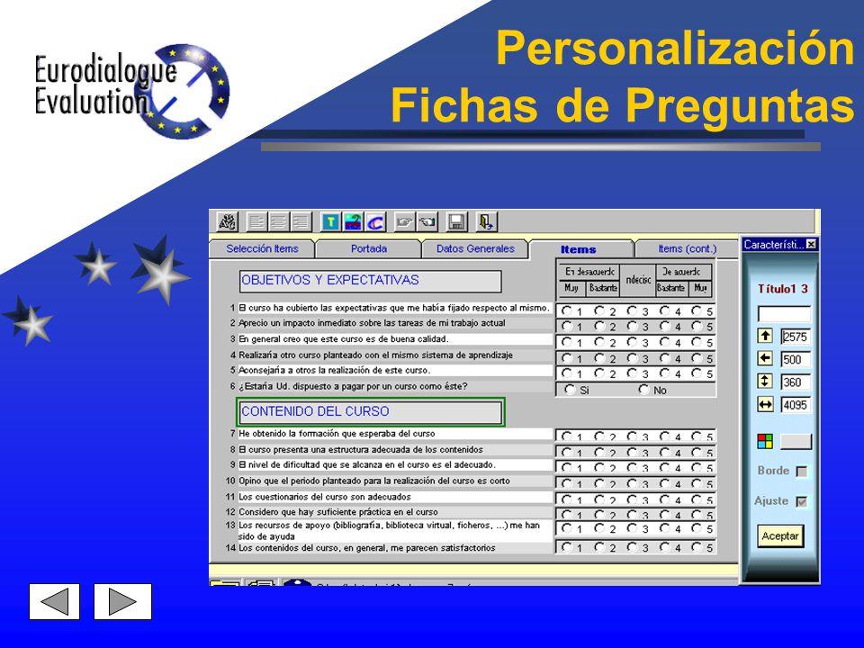 Personalización Fichas de Preguntas