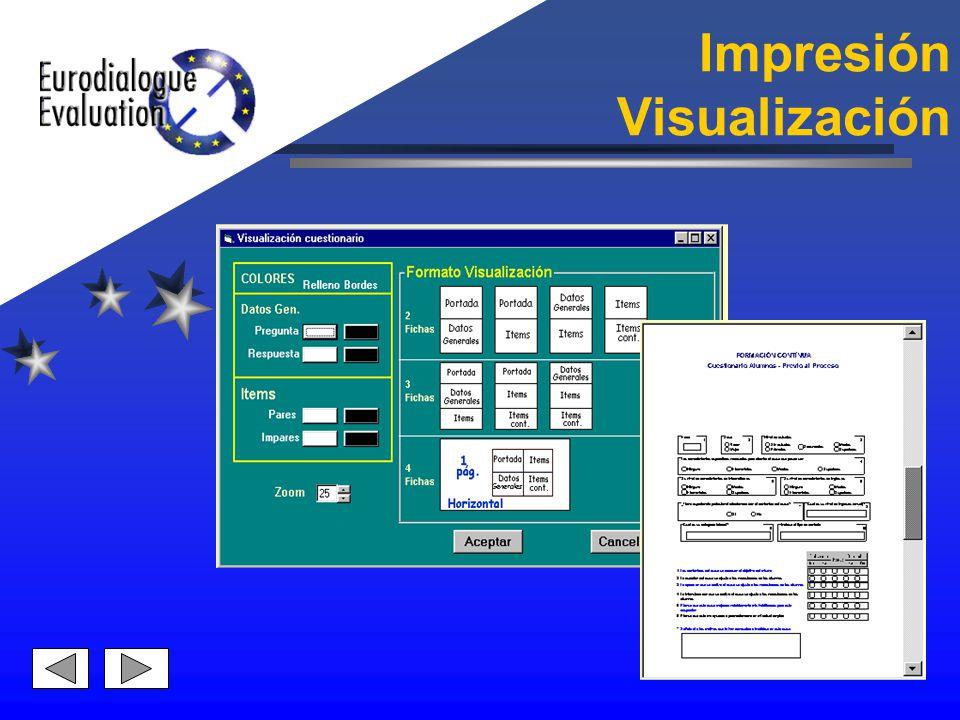 Impresión Visualización