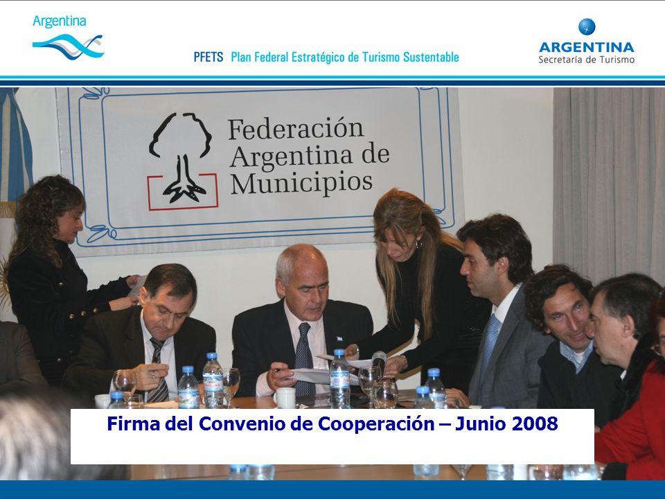 Firma del Convenio de Cooperación – Junio 2008