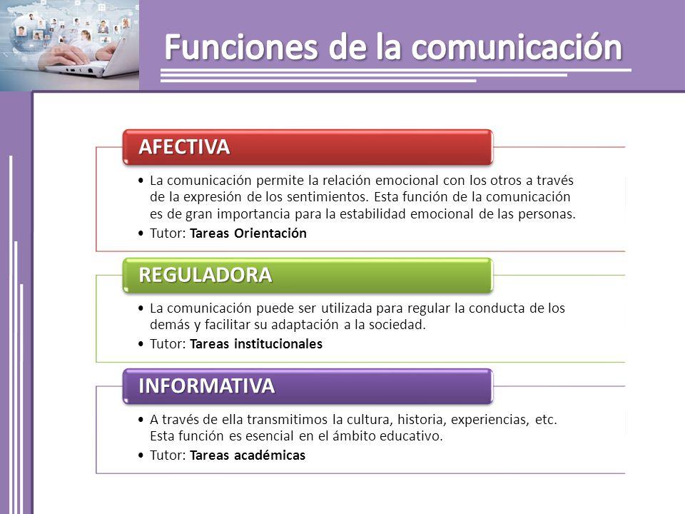 La comunicación permite la relación emocional con los otros a través de la expresión de los sentimientos. Esta función de la comunicación es de gran i