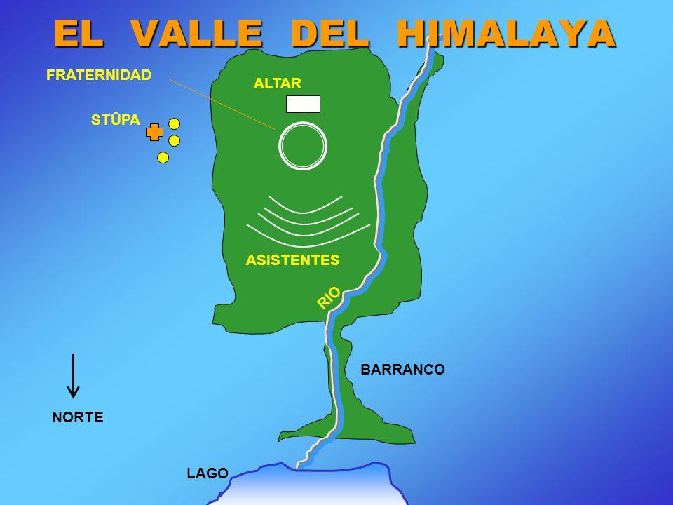 STÛPA ALTAR FRATERNIDAD ASISTENTES RIO BARRANCO LAGO NORTE EL VALLE DEL HIMALAYA