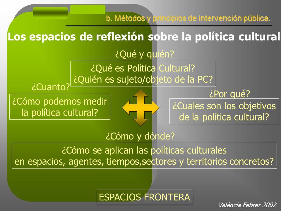 València Febrer 2002 b. Métodos y principios de intervención pública.