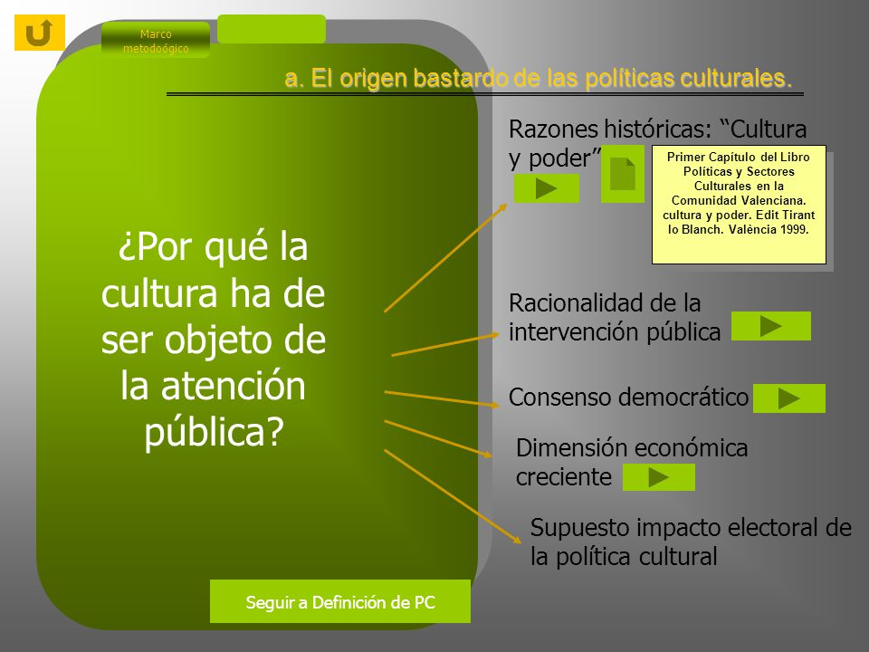 Marco metodoógico ¿Por qué la cultura ha de ser objeto de la atención pública.