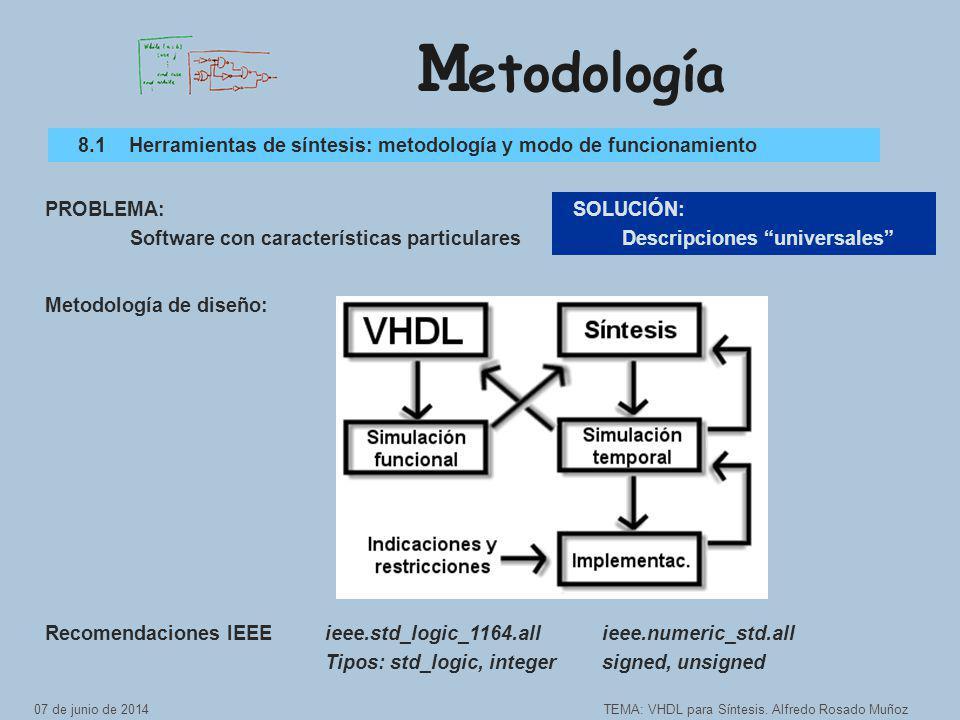 M etodología TEMA: VHDL para Síntesis.