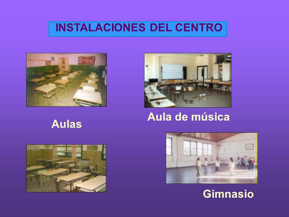 INSTALACIONES DEL CENTRO Aulas Aula de música Gimnasio