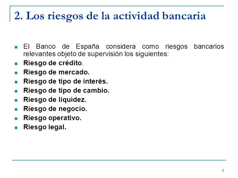 9 Riesgo de crédito Posibilidad de sufrir pérdidas derivadas del incumplimiento de las obligaciones contractuales que incumben a las contrapartes con las que se relaciona la entidad.
