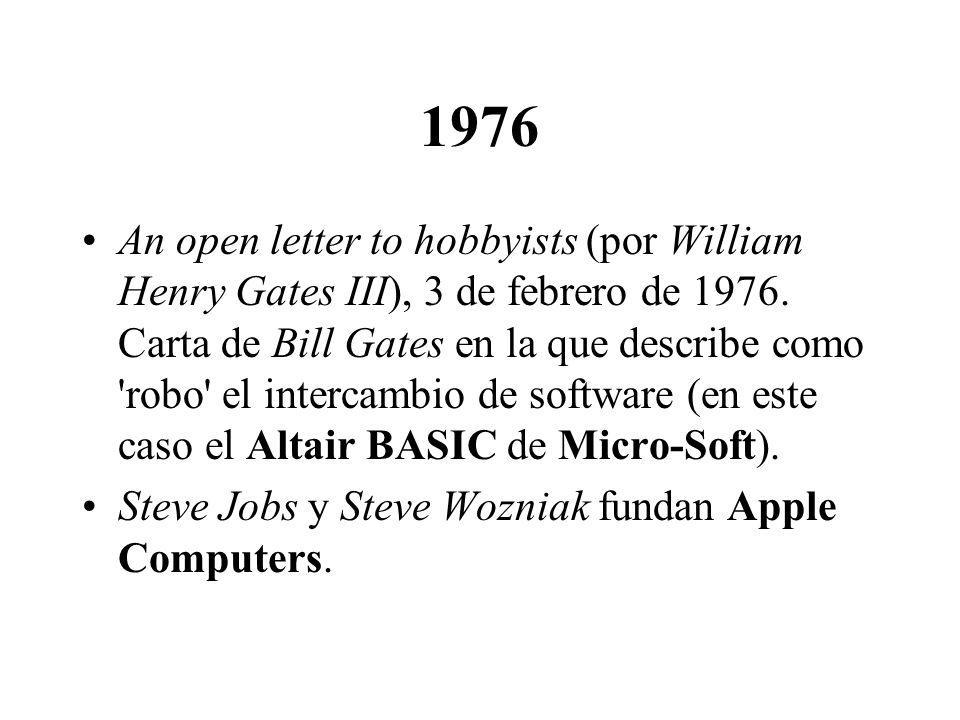 1988 (2) Se forma un grupo sin ánimo de lucro (X Consortuim) para dirigir el desarrollo de estándares de X.