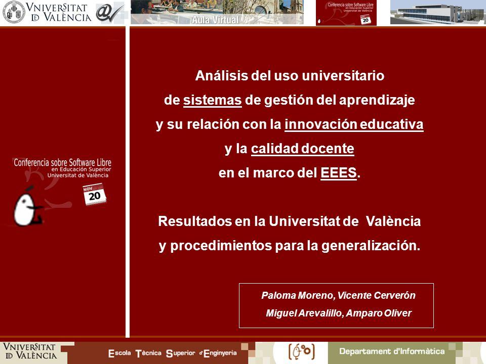 Análisis del uso universitario de sistemas de gestión del aprendizaje y su relación con la innovación educativa y la calidad docente en el marco del EEES.